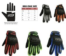 KIDS EDGE STORM GLOVES DIRT BIKE M/X KART QUAD RACE BMX BIKE OFF ROAD ARMOUR