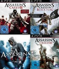 Playstation 3 Assassins Creed BUNDLE TEIL 1 + 2 + 3 + 4 Deutsch sehrguterZustand