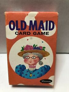 Vintage Whitman Old Maid Card Game 4109 Circus Theme Missing 3 Cards Near MINT w