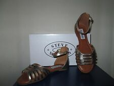 STEVE MADDEN JMARINA GP GOLD ANKLE STRAP YOUTH GIRLS SANDALS SHOES SZ 2 M NEW