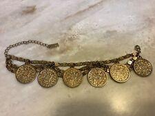 Reiss, gold coloured coin chain bracelet. Unworn.