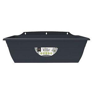 Villa PLASTIC WINDOW BOX PLANTER 400mm 100% Recyclable GRAPHITE *Aust Brand