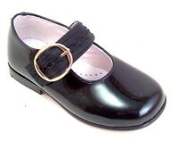 European Size 11-1 Girls Red Leather Ankle Strap Dress Shoes DE OSU 119