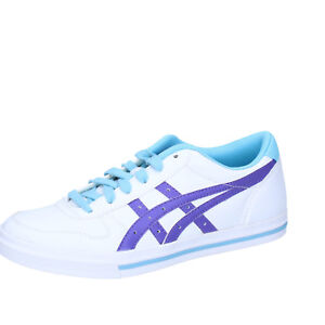 Women's Shoes Onitsuka Tiger 35,5 Eu Sneakers White/Violet Leather AH829-B