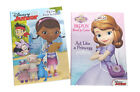 Sofia the First  Disney Junior Kids Coloring Book Activity Books Set of 2 NEW