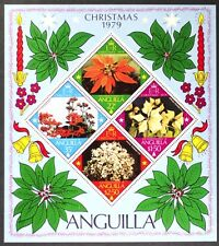 AT036 ANGUILLA 1979 Christmas, Poinsettias S/S Diamond-Shaped Stamps Mint NH
