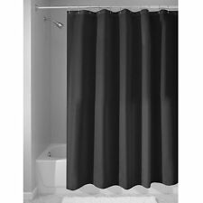 InterDesign Fabric Waterproof Shower Curtain Liner, Black
