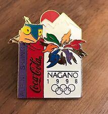 Alpine Skiing Coca-Cola Nagano 1998 Mascots Olympic Sports Pin
