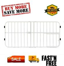 Lil' Tuffy Expandable Gate with Small Pet Door 9 x 9 in, Metal, quick to remove