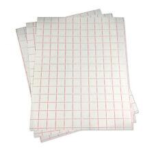 "5 sheets-12""x24"" Transfer Paper w/Red Grid-Adhesive Vinyl-Craft Cutter Projects"