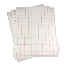 "5 sheets-12""x15"" Transfer Paper (lined)l w/Red Grid-Adhesive Vinyl-Craft Cutter"