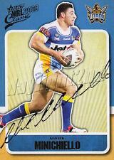 ✺Signed✺ 2009 GOLD COAST TITANS NRL Card MARK MINICHIELLO