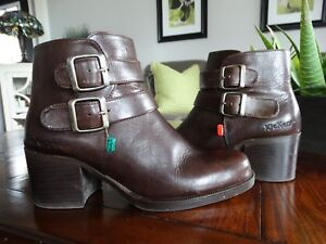 KicKers FRANCE Brown Leather Boots 39