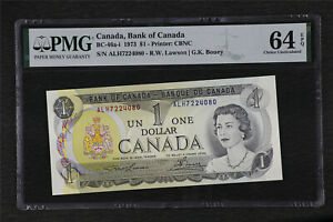 1973 Canada Bank of Canada BC-46a-i 1 Dollars PMG 64 EPQ Choice UNC