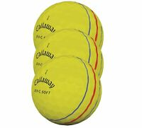 Callaway ERC Soft Triple Track Golf Balls New - Yellow - 1 Sleeve (3 Balls)