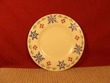 "Pfaltzgraff Dinnerware Nordic Christmas Salad Plate 8 1/8"" Snowflake"
