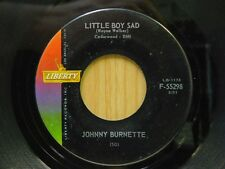 Johnny Burnette 45 Little Boy Sad bw Down The River on Liberty