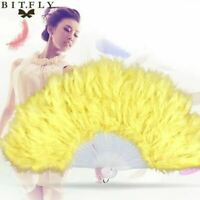 Showgirl Feather Fans burlesque Folding Dance Props Hand Fan For Women Halloween