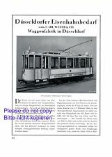 Railway supplies Weyer Dusseldorf XXL 1925 ad Germany tram advertising