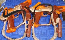 2 LASER LAZER TAG Team OPs Guns 2 Goggles Look at Pics Tested, Work Great