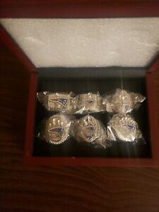 Patriots Championship Dynasty Ring Set. With display box.