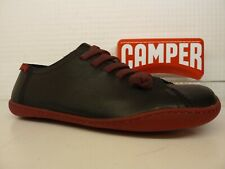 Camper Peu Cami K200586-006 Black Red Leather Elastic Lace Ladies Shoe
