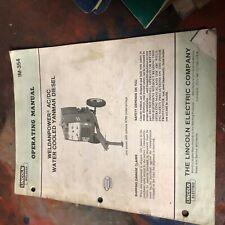 Lincoln Welder Idealarc Weldanpower Ac Dc Diesel Model Operation Manual
