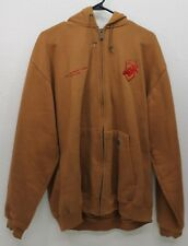 CARHARTT Men's Size XL L 52 WORK RUGGED Cotton Full Zip Tan Khaki Hoodie Tan