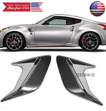 """2PC 5"""" x 5"""" ABS Carbon Side Fender Intake Air Vent w/ Mesh Insert Trim For Ford"""