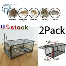 2Pcs Rat Trap Cage Small Animal Pest Rodent Mouse Control Catch Hunting Trap