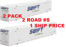 MTL MICRO-TRAINS N   469 00 111 & 112 ( 2 PK )* SWIFT *53' CONTAINERS, 2-RD #s