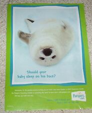 2000 print ad - Pampers Diapers cute seal Procter & Gamble advertising page AD