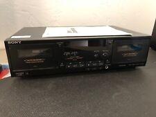 Sony Black Auto Reverse Dual Deck Stereo Cassette Deck Tc-Wr590 W/ Instructions