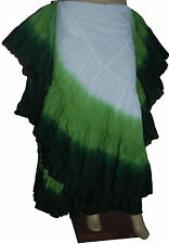 100% Cotton Gypsy Flamenco Skirt 12 Yard Belly Dance Tribal Costume Ethenic Jupe
