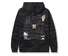 Hello Kitty and Friends x ASSC Black Camo Hoodie-Small