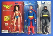 "Mego Marty Abrams 8"" Action Figure Set Superman Batman Wonder Woman"