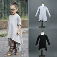 Toddler Baby Girl Kids Autumn Clothes Long Sleeve Party Princess Tutu Dress 1-6Y