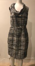 OSCAR de la RENTA Multi Color Tweed Dress w/Cowl Neck Size 10!!  CAMDAY