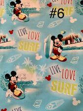 By the Yard 100% Cotton, Mickey Live, Love, Surf! Springs Creative Products