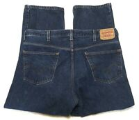 Levis 505 Regular Fit Straight Leg Dark Wash Blue Denim Jeans Mens Size 42x30
