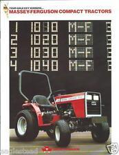 Farm Tractor Brochure - Massey Ferguson - MF 1010 et al - Compact  c1986 (F3817)