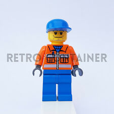 LEGO Minifigures - 1x cty054 - Airport Ground Crew - Omino Minifig Set 7734