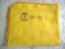 SAAB CAR:NEW LARGE HI-QUALITY CLEANING CLOTH DUSTER WITH SAAB SCANIA LOGO DECAL.