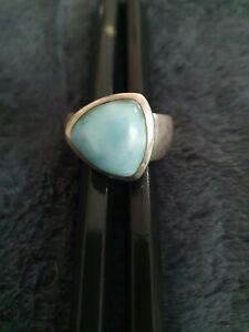 Silberring mit hellblauen Stein !!!