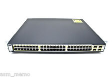 Cisco WS-C3750G-48TS-S 48 Gigabit Port Layer 3 Switch w/ 15.0 tar ios 3750G-48TS