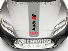 BS3 AUDI Bonnet Racing Rayas A1 A3 A4 TT Logo Calcomanías Adhesivas Gráficos