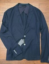 Armani Exchange A|X Men's Navy Stretch Cotton Sport Coat Blazer Jacket 42