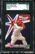 2001 Topps Stars Albert Pujols RC SGC 98 10 GEM St. Louis Cardinals