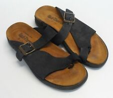 Womens Paul Thomas German Black Natural Leather Sandals Size 5.5 / 35