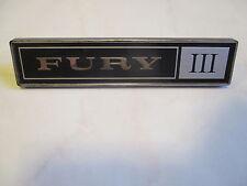 Mopar NOS 1972-73 Plymouth Fury III Dash Emblem Ornament 3590120